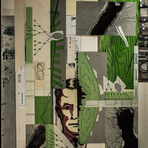 Borders Diagrams and Drawings, Paper Collage, © 2014, Chris Pearce