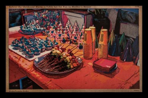 Children's Party 1940's Postcard, Digital Print, © 2013, Chris Pearce