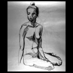Seated, Charcoal on Paper, © 2009, Chris Pearce