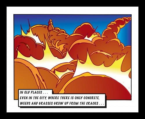 Explosion Comic Frame, Digital Color Print, © 2006, Chris Pearce
